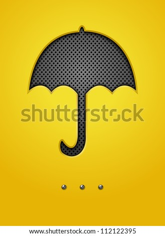 Abstract background with umbrella. Jpeg version.