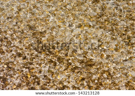 abstract background with water of a mountain stream in the sunlight