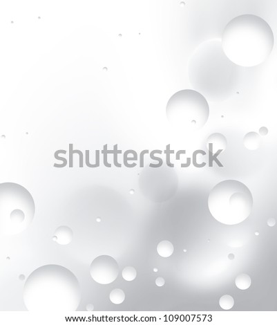 abstract background with white balls