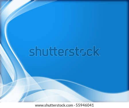 abstract background with white swirl on blue texture - stock photo