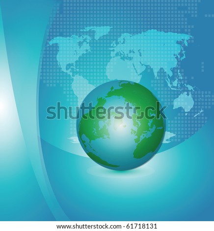 Abstract Background with world map and earth globe