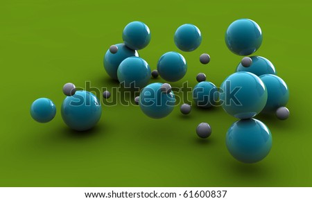 abstract balls - stock photo