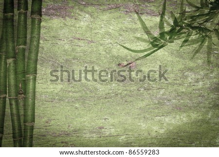 abstract bamboo green background