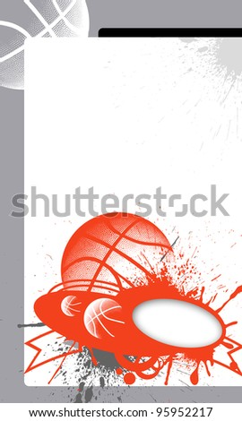 Abstract basketball background with space (poster, web, leaflet, magazine)
