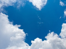 abstract beautiful blue sky with white cloud , climate or season change