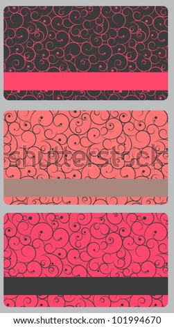 Abstract beautiful set of gift card design.  illustration