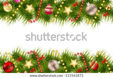 Abstract beauty Christmas and New Year background.  Raster version