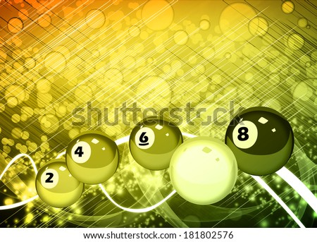 Abstract billiard invitation advert background with empty space