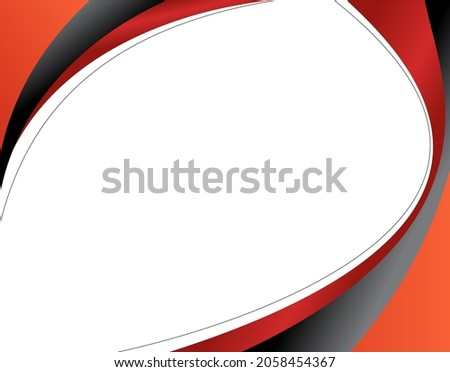 Abstract black and red background - brochure design or flyer