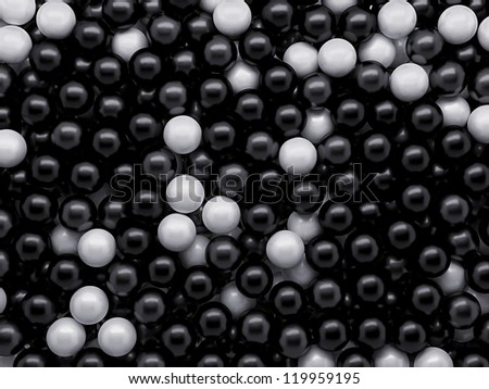 abstract black and white balls background texture