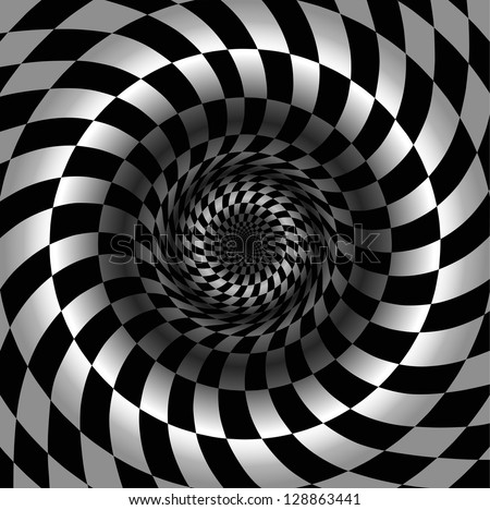 Abstract black and white chess background