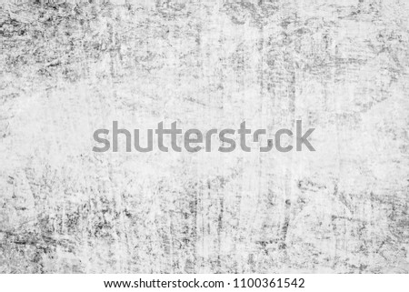 Abstract black and white of oil painted wall paper texture background for modern art decoration , design or your text, copy space. #1100361542