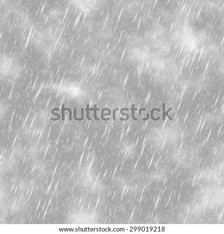 Abstract black and white rain. Cloudy rainy sky. Texture background. Seamless illustration.