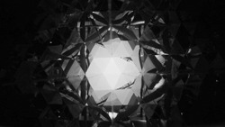 abstract black and white triangle mirror reflection