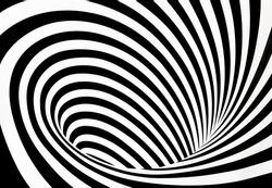 Abstract black and white twirl background, Vortex