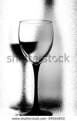 Abstract black and white wine background design. - stock photo