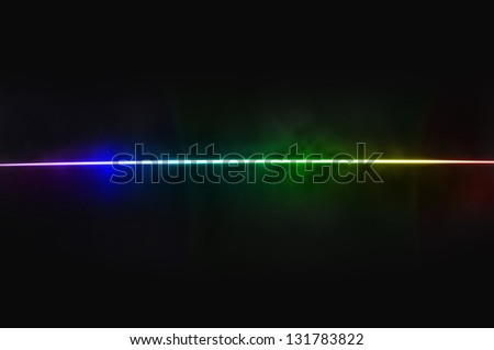 Abstract black background - light dispersion