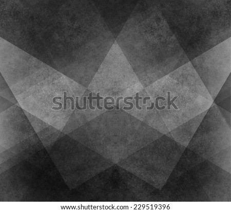 abstract black background white pattern of stripes, triangles, rectangles, squares, and blocks in diagonal lines with vintage monochrome texture
