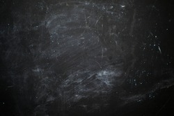 abstract black background with stains from chalk blank for writing information