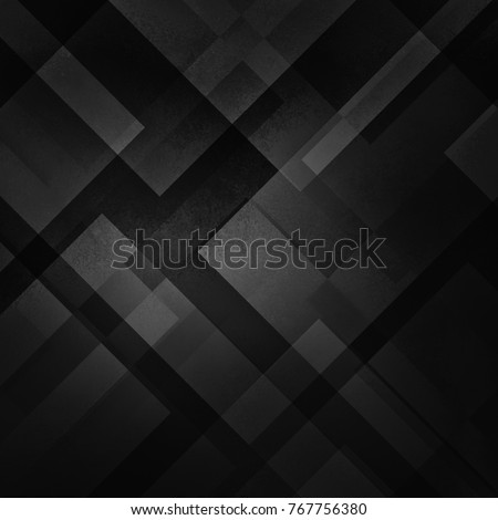 abstract black background with triangles and rectangle shapes layered in contemporary modern art design, black white and gray shades