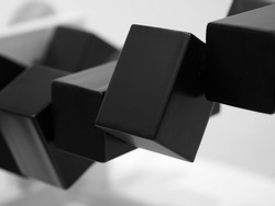 Abstract black boxs technology background design illustration.