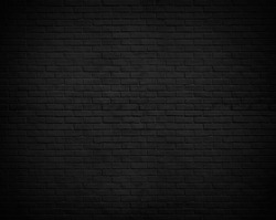 Abstract Black brick wall texture for vignette pattern background.