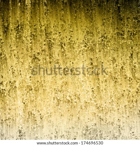 abstract black gold background design, aged vintage grunge background texture, rough distressed pitted peeling texture painted wall, cool artsy background for web template or product design backdrop