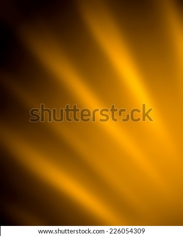 abstract black gold background design, bright yellow streaks of light on dark black color