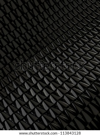 Abstract Black Metallic Background