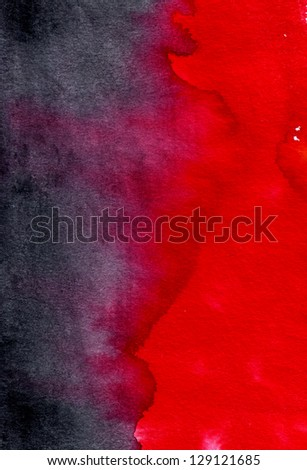Abstract black-red watercolor background