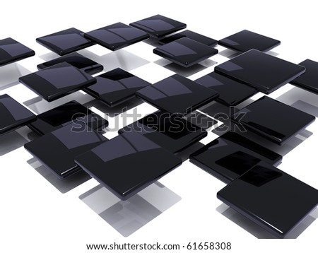 Abstract black shiny tiles