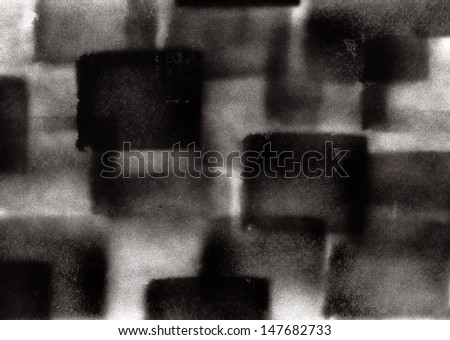 Abstract black to white graffiti sprayed background
