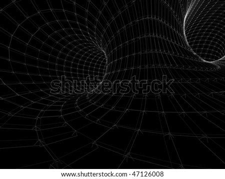 Abstract black tunnel