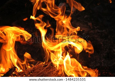 abstract blaze fire flame texture background. #1484235101