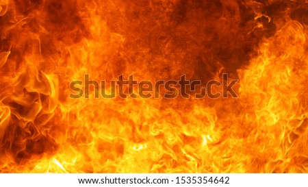 Photo of  abstract blaze fire flame texture background in full hd ratio, 16x9