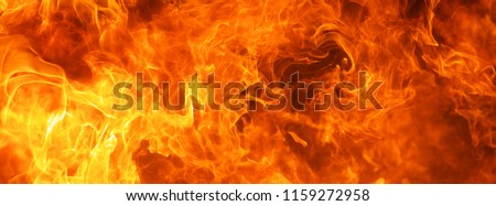 Photo of  abstract blaze fire flame texture for banner background