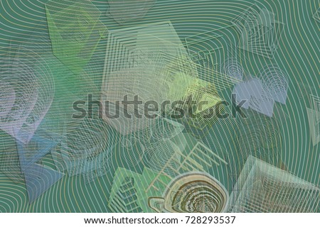 Abstract blended shapes & texture background for web page, graphic design, catalog, wallpaper or backdrop. #728293537