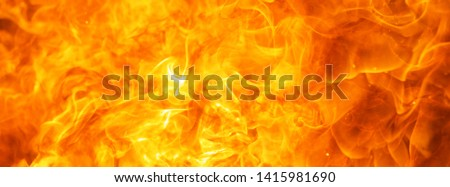 abstract blow up blaze, flame, fire element for use as a texture for banner background design concept #1415981690