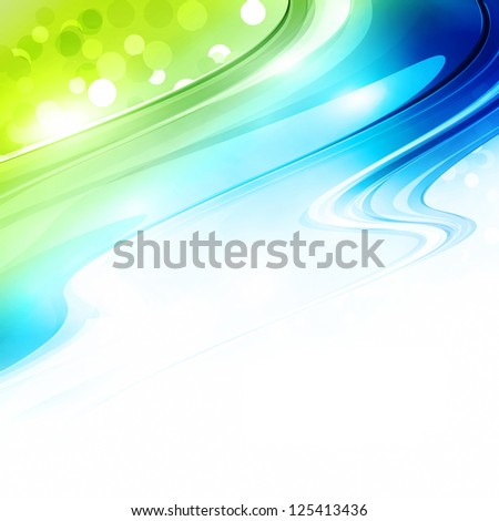 Abstract blue and green background. Rasterized version