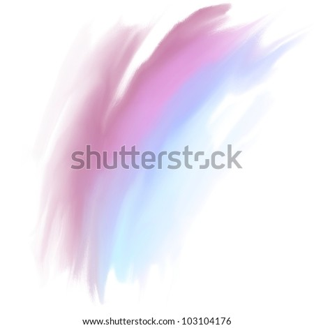 Abstract blue and pink hand drawn oil  background, raster illustration