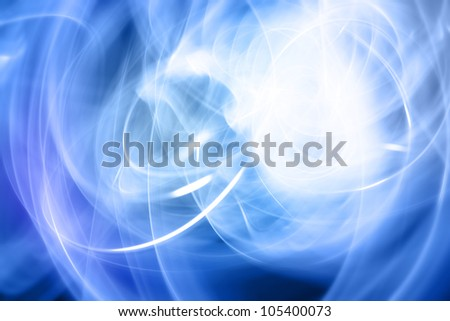 Abstract blue and white futuristic space background