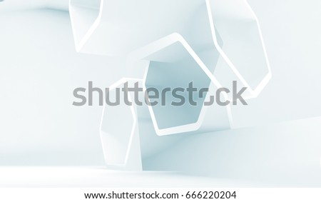 Abstract blue and white technology background useful as a wallpaper image. 3d render illustration