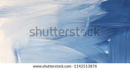 Photo of  Abstract blue art painting background. Modern art. Contemporary art