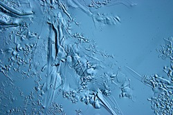abstract blue background cold ice texture with cracks