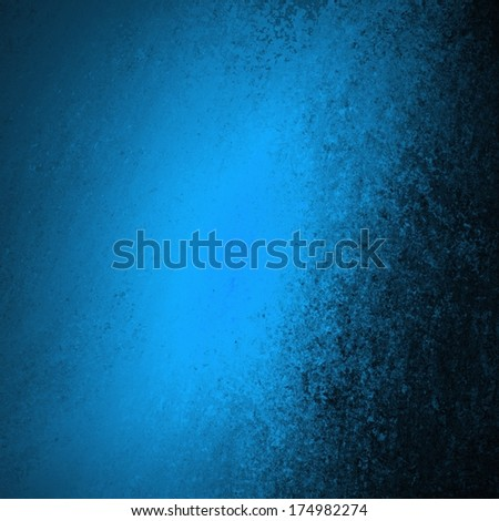 abstract blue background design, rough black border with blue streak or stream of bright light across dark contrasting black background, unique web design background or elegant brochure layout space