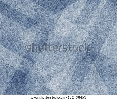abstract blue background design with white linen layers of transparent material, squares and rectangle diagonal shapes in artsy checkered pattern design