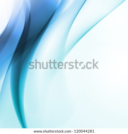 Abstract blue background,  futuristic wavy illustration