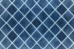 abstract blue background, light and dark blue slashes lines rhombus pattern