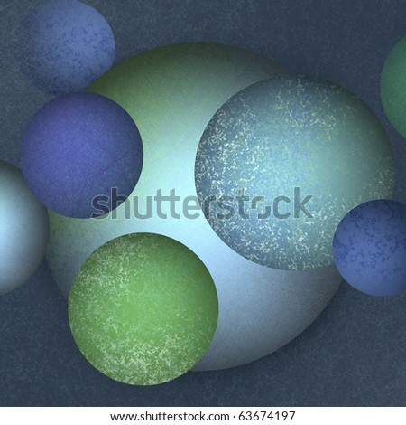 abstract blue background of colored green and blue balls that you can put text on