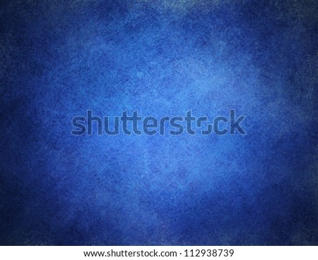 abstract blue background or dark paper with bright center spotlight and black vignette border frame with vintage grunge background texture black paper layout design of light blue graphic art